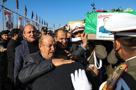 The funeral ceremony of the victims of the Boeing 707 cargo plane, Iran, Tehran, Mehrabad Airport, January 16.