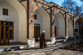 Historic Eltefatieh Religious School, Iran, Qazvin, January 27, 2019.