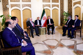 The meeting between Iran's first Vice-President Es'haq Jahangiri and Syrian Foreign Minister Walid Muallem,  Syria, January 29, 2019.