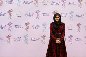 Iranian actress Maryam Mo'men is present in the opening ceremony of the 37th Fajr Film Festival, Iran, Tehran, January 29.
