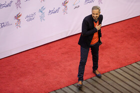 Iranian actor Javad Razavian is present in the opening ceremony of the 37th Fajr Film Festival, Iran, Tehran, January 29.