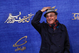 "Iranian actor Reza Babak, one of the film crews of ""African Violet"", is present on the second day of of the 37th Fajr Film Festival, January 31, 2019."