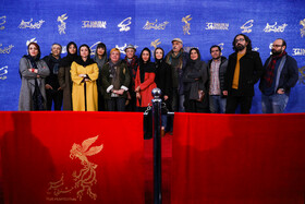"The film crew of ""African Violet"" are present on the second day of the 37th Fajr Film Festival, January 31, 2019."