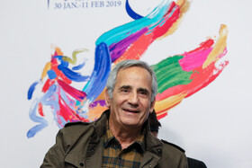 "Iranian actor Majid Mozafari, one of the film crews of ""The Last Fiction"", is present on the second day of of the 37th Fajr Film Festival, January 31, 2019."