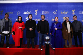 "The film crew of ""Darkhongah"" are present on the second day of the 37th Fajr Film Festival, January 31, 2019."