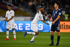The final of 2019 AFC Asian Cup between Qatar and Japan, the United Arab Emirates, Abu Dhabi, February 1, 2019.