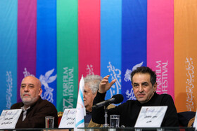 """The film crew of """"Nagahan Derakht"""" are present on the third day of the 37th Fajr Film Festival, February 1, 2019."""