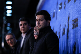 Iranian actor Hamed Behdad (Front) is present on the third day of the 37th Fajr Film Festival, February 1, 2019.