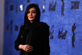 Iranian actress Sareh Bayat is present on the third day of the 37th Fajr Film Festival, February 1, 2019.