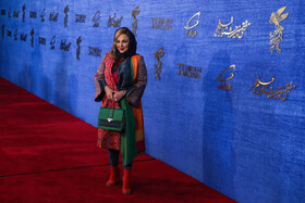 Iranian actress Behnoush Bakhtiari is present on the third day of the 37th Fajr Film Festival, February 1, 2019.