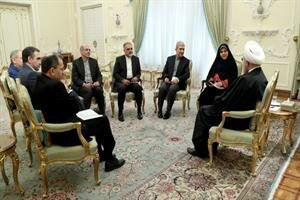 New Iranian ambassadors to 4 countries meet with Dr Rouhani