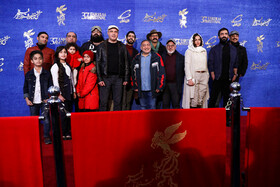 The film crew of 'The Blood of God' are present on the fifth day of the 37th Fajr Film Festival, Iran, Tehran, February 3, 2019.