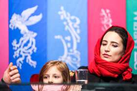 Iranian actresses Negar Javaherian (R) and Helsa Zolfi are present on the fifth day of the 37th Fajr Film Festival, Iran, Tehran, February 3, 2019.