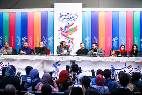 The film crew of 'Gold' are present on the fifth day of the 37th Fajr Film Festival, Iran, Tehran, February 3, 2019.