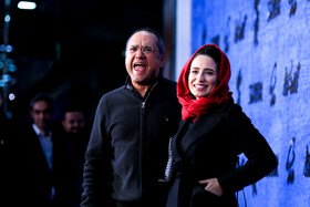 Iranian actor Rambod Javan and Iranian actress Negar Javaherian are present on the fifth day of the 37th Fajr Film Festival, Iran, Tehran, February 3, 2019.