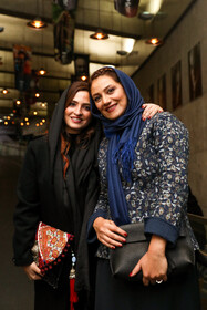 Iranian actress Shabnam Moghaddami (R) is present on the fifth day of the 37th Fajr Film Festival, Iran, Tehran, February 3, 2019.