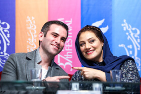 Iranian actor Houtan Shakiba and Iranian actress Shabnam Moghaddami are present on the fifth day of the 37th Fajr Film Festival, Iran, Tehran, February 3, 2019.