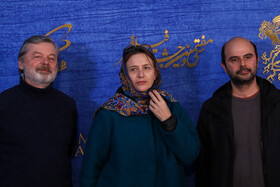 Iranian actor Ali Mosaffa (R) is present on the sixth day of the 37th Fajr Film Festival, February 4, 2019.