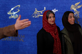The film crew of 'Yalda' are present on the sixth day of the 37th Fajr Film Festival, February 4, 2019.