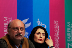 Iranian actress Behnaz Ja'afari and Iranian actor Babak Karimi is present on the sixth day of the 37th Fajr Film Festival, February 4, 2019.