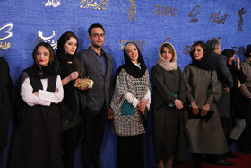 The film crew of 'Jamshidieh' are present on the sixth day of the 37th Fajr Film Festival, February 4, 2019.