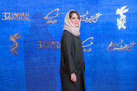 Iranian actress Setareh Pesyani is present on the sixth day of the 37th Fajr Film Festival, February 4, 2019.