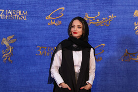 Iranian actress Neda Jebraeili is present on the sixth day of the 37th Fajr Film Festival, February 4, 2019.
