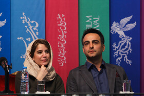 Iranian actor Hamed Komeili and Setareh Pesyani are present on the sixth day of the 37th Fajr Film Festival, February 4, 2019.