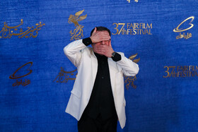 Iranian TV host Mohammad Gebarloo is present on the sixth day of the 37th Fajr Film Festival, February 4, 2019.