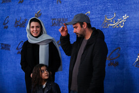 Iranian actor Ali Mosaffa and Iranian actress Leila Hatami are present on the sixth day of the 37th Fajr Film Festival, February 4, 2019.