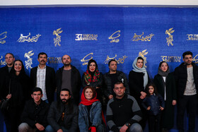 The film crew of 'A Man without Shadow' are present on the sixth day of the 37th Fajr Film Festival, February 4, 2019.