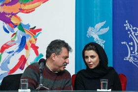 The director of 'A Man without Shadow' Alireza Raeesiyan and Iranian actress Leila Hatami are present on the sixth day of the 37th Fajr Film Festival, February 4, 2019.