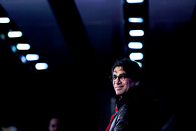 """Iranian director Reza Zahtabchian is present on the 7th day of the Fajr Film Festival, Iran, Tehran, February 5. He has directed """"Watching This Movie is a Crime""""."""