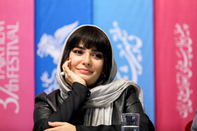 """Iranian actress Linda Kiani is present on the 7th day of the Fajr Film Festival, Iran, Tehran, February 5. She is one of the members of the cast of """"Watching This Movie is a Crime""""."""