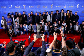 "The film crew of ""The 23 People"" are present on the 7th day of the Fajr Film Festival, Iran, Tehran, February 5."