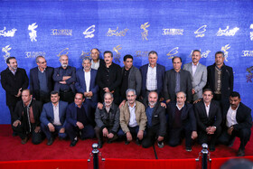 "These 23 people, whom the movie ""The 23 People"" was inspired by their story in Iran-Iraq War, are present on the 7th day of the Fajr Film Festival, Iran, Tehran, February 5."