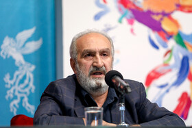 "The film producer of ""The 23 People"" is present in the press conference of the Fajr Film Festival, Iran, Tehran, February 5."