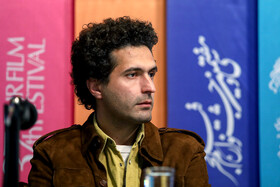 """The film cinematographer Morteza Gheidi is present on the 7th day of the Fajr Film Festival, Iran, Tehran, February 5. He is one of the film crews of """"The 23 People""""."""
