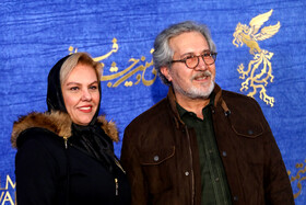 Iranian actor Shahrokh Foroutanian and Iranian actress Afsaneh Chehreh Azad are present on the 7th day of the Fajr Film Festival, Iran, Tehran, February 5.