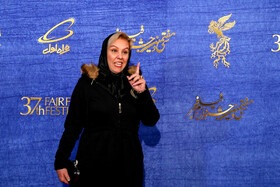 Iranian actress Afsaneh Chehreh Azad is present on the 7th day of the Fajr Film Festival, Iran, Tehran, February 5.