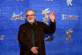 """Iranian actor Shahrokh Foroutanian is present on the 7th day of the Fajr Film Festival, Iran, Tehran, February 5. He is one of the members of the cast of """"Polo Coat""""."""