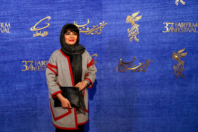 """Iranian actress Linda Kiani is present on the 7th day of the Fajr Film Festival, Iran, Tehran, February 5. She is one of the members of the cast of """"Polo Coat""""."""