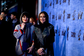 """Iranian actresses Linda Kiani (L) and Bahareh Kian Afshar are present on the 7th day of the Fajr Film Festival, Iran, Tehran, February 5. They are the members of the casts of """"Polo Coat""""."""