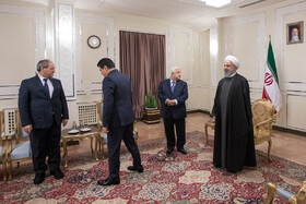 Iranian President Hassan Rouhani meets with Syrian Foreign Minister Walid Muallem, Iran, Tehran, January 6, 2019.