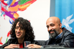 The director of 'Gold Carrier' Touraj Aslani is present in the press conference of 37th Fajr Film Festival, Iran, Tehran, February 10, 2019.