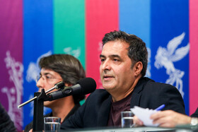 The film producer of 'Gold Carrier' Mansour Sohrabpour is present in the press conference of 37th Fajr Film Festival, Iran, Tehran, February 10, 2019.