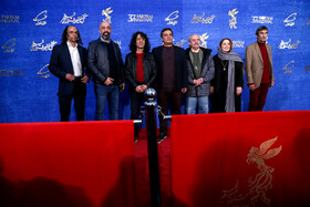 The film crew of 'Gold Carrier' are present on the 10th day of 37th Fajr Film Festival, Iran, Tehran, February 10, 2019.