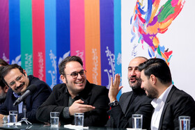 The film crew of 'Midday Adventures: Blood Trap' are present in the press conference of 37th Fajr Film Festival, Iran, Tehran, February 10, 2019.