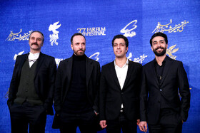 The film crew of 'Midday Adventures: Blood Trap' are present on the 10th day of 37th Fajr Film Festival, Iran, Tehran, February 10, 2019.