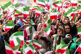 Iranian President Hassan Rouhani Delivers a speech in Bandar Lengeh, Iran, February 17, 2019.